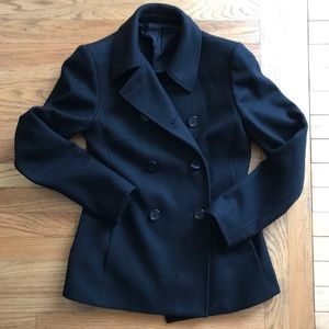 Black Antonio Melani Peacoat Wool